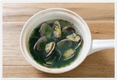 低糖質 あさりとあおさのスープ