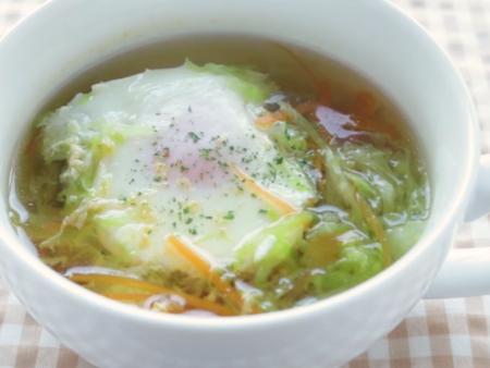 低糖質 落とし卵のスープ