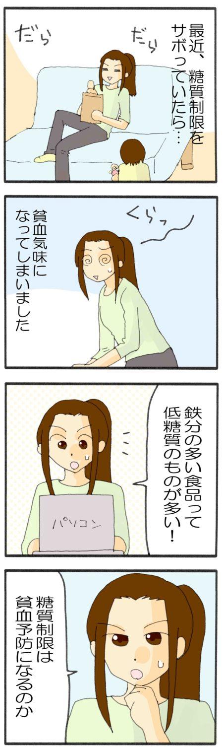 貧血 糖質制限 漫画