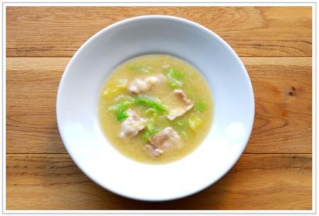 低糖質 白菜の春待ちスープ