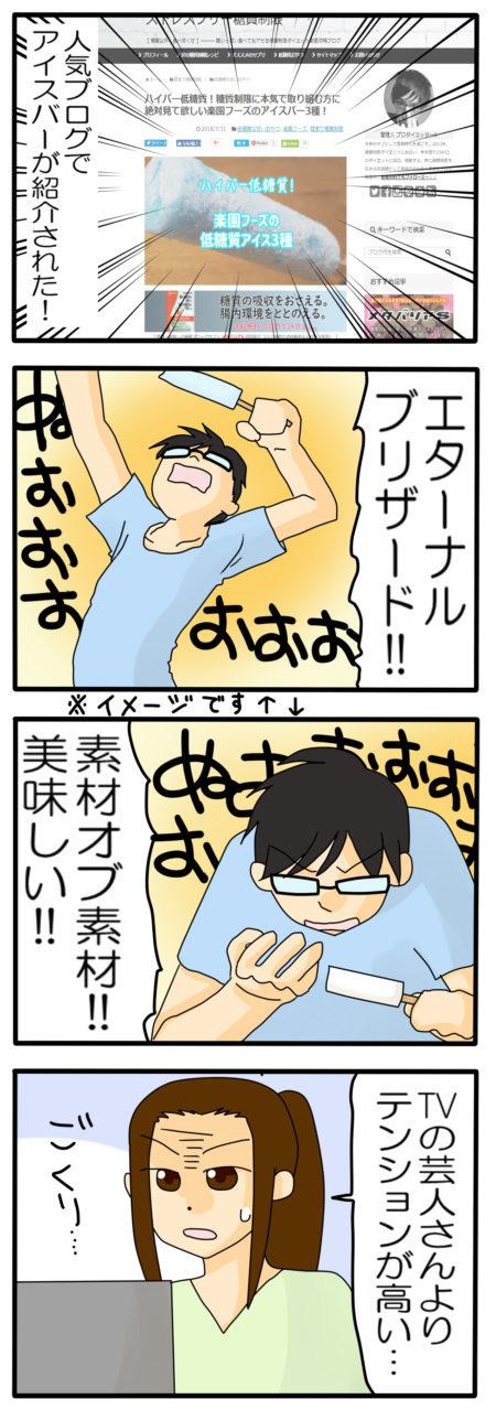 低糖質アイス 漫画